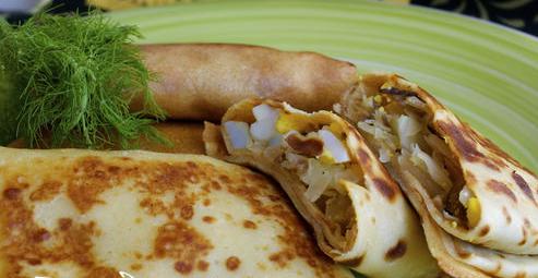 Блины с капустой и яйцом рецепт